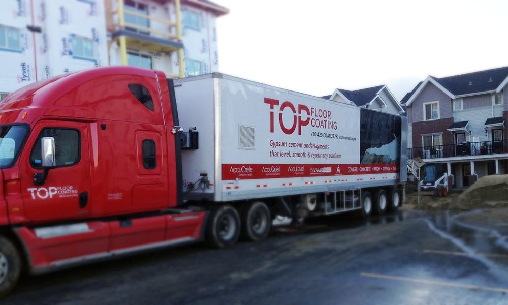 Top Floor Coating semi-truck